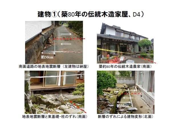 震災時の建物倒壊画像(築80年)