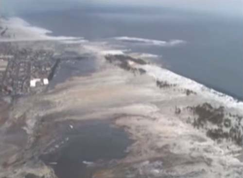 東日本大震災時の名取市の津波の画像2