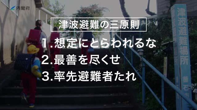 津波避難の三原則