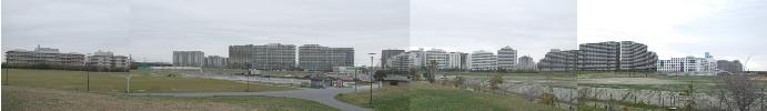 新浦安埋立地域には高層マンションが多い